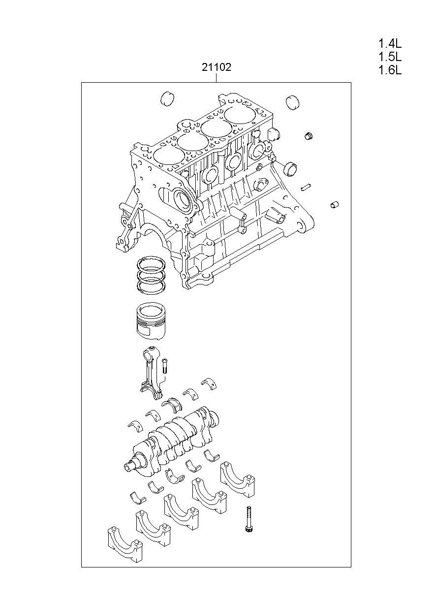 engine assy-short