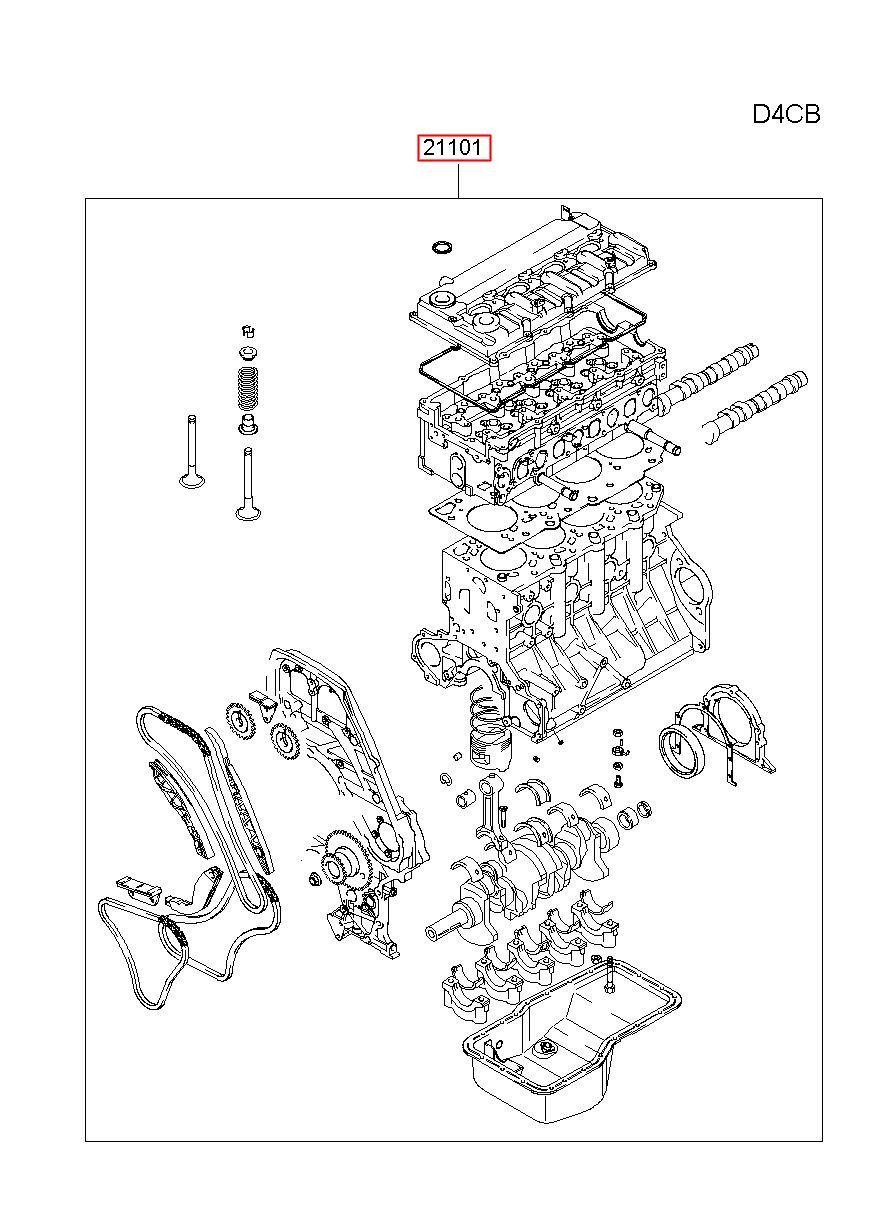 Hyundai Hs Porter 2 Engine Assy Sub 1j0914au00c 1j091 4au00c